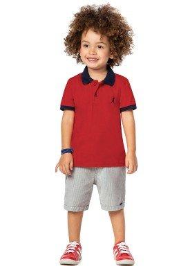 conjunto infantil menino vermelho alenice 44201 4