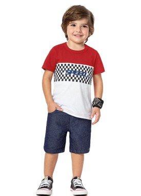 conjunto infantil menino vermelho alenice 44202 4