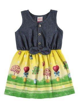 vestido bebe menina amarelo alenice 40910 1