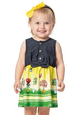 vestido bebe menina amarelo alenice 40910 2