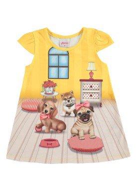 vestido bebe menina amarelo alenice 40913