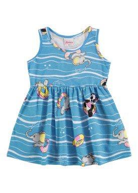 vestido bebe menina azul alenice 40900