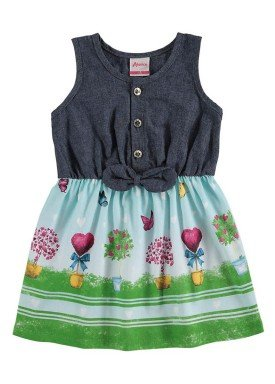 vestido bebe menina azul alenice 40910 1