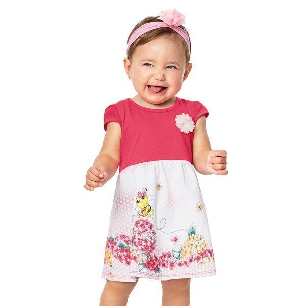 vestido bebe menina pink alenice 40911 2