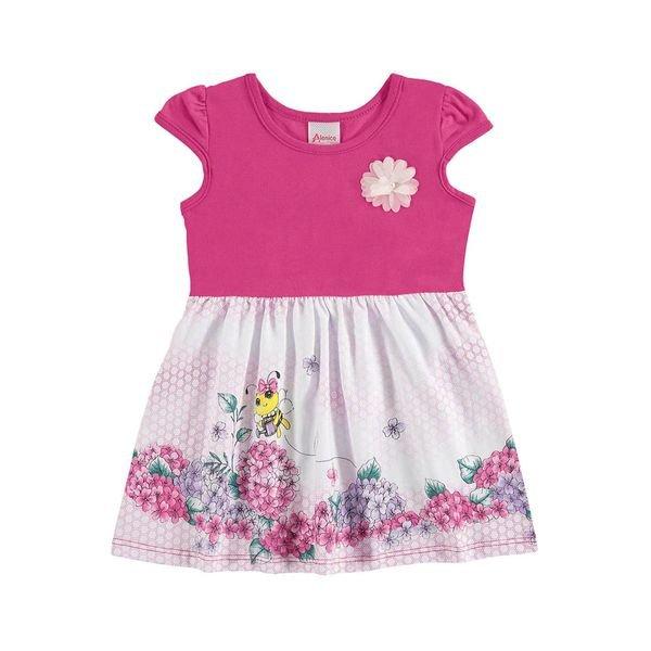 vestido bebe menina rosa alenice 40911