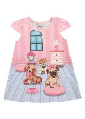 vestido bebe menina rosa alenice 40913 2