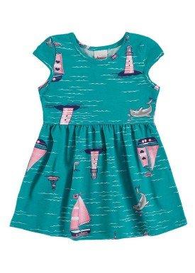 vestido bebe menina verde alenice 40901