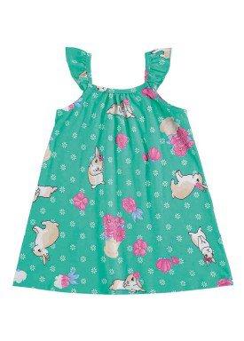 vestido bebe menina verde alenice 40902 1