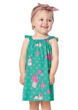 vestido bebe menina verde alenice 40902 2