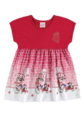 vestido bebe menina vermelho alenice 40903 1
