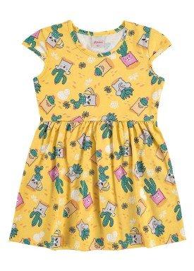 vestido infantil menina amarelo alenice 44211