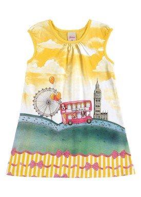 vestido infantil menina amarelo alenice 44213 1