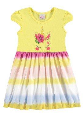 vestido infantil menina amarelo alenice 44231