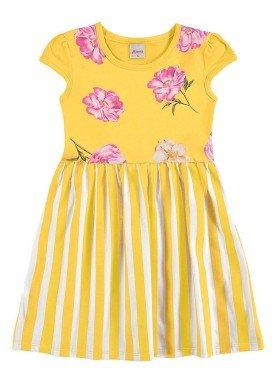 vestido infantil menina amarelo alenice 46918