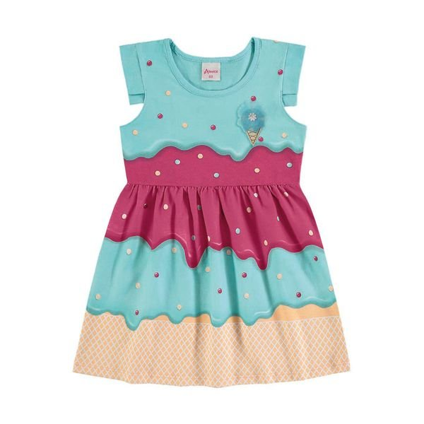 vestido infantil menina azul alenice 44222 1