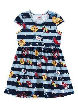 vestido infantil menina azul alenice 46905