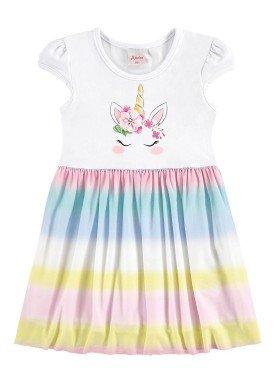 vestido infantil menina branco alenice 44231