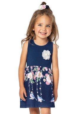 vestido infantil menina marinho alenice 44225 3
