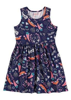 vestido infantil menina marinho alenice 46904