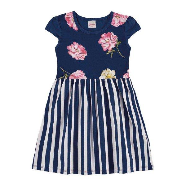 vestido infantil menina marinho alenice 46918 1