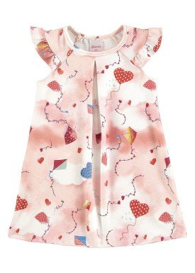 vestido infantil menina natural alenice 44224