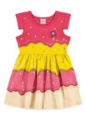 vestido infantil menina pink alenice 44222 1