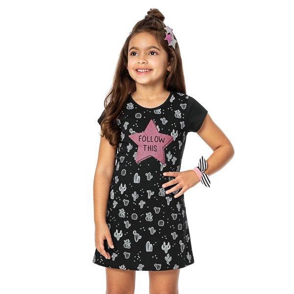 vestido infantil menina preto alenice 46907 2