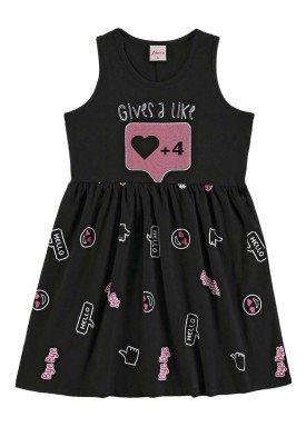 vestido infantil menina preto alenice 46916 1