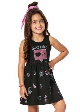 vestido infantil menina preto alenice 46916 2