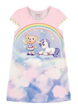 vestido infantil menina rosa alenice 44223 1