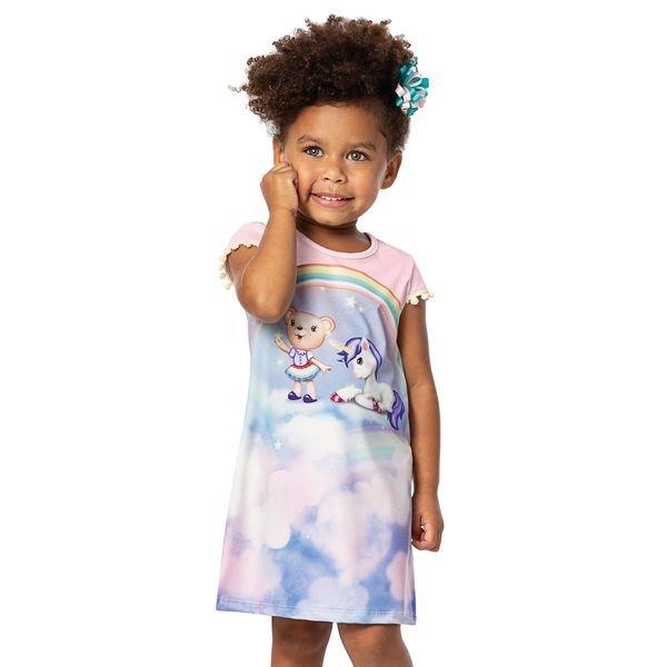 vestido infantil menina rosa alenice 44223 3
