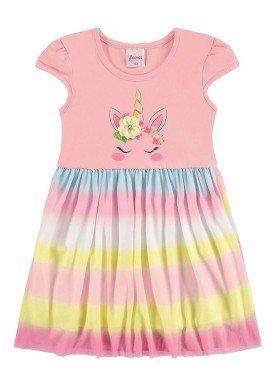 vestido infantil menina rosa alenice 44231 1