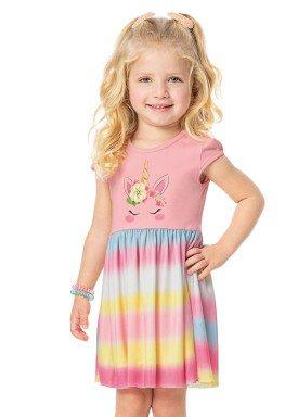 vestido infantil menina rosa alenice 44231 2