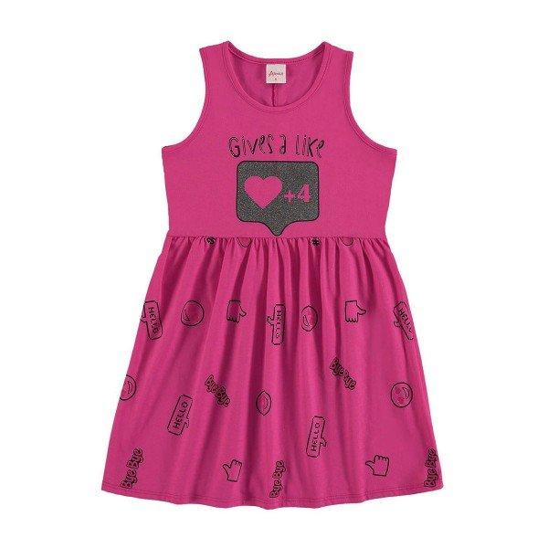 vestido infantil menina rosa alenice 46916 1