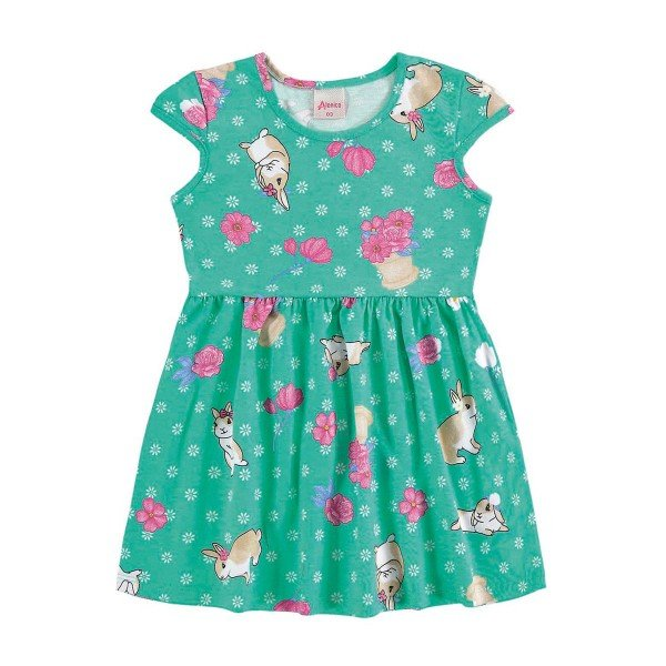 vestido infantil menina verde alenice 44211