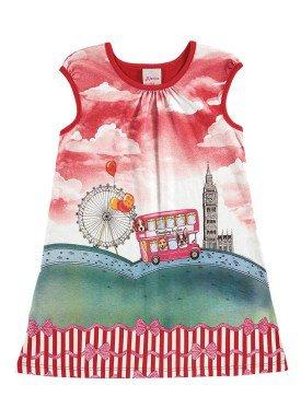 vestido infantil menina vermelho alenice 44213