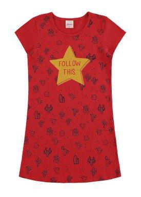 vestido infantil menina vermelho alenice 46907