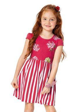 vestido infantil menina vermelho alenice 46918 2