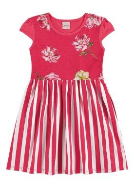 vestido infantil menina vermelho alenice 46918