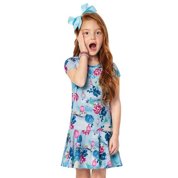 vestido infantil menina azul alenice 46925 2