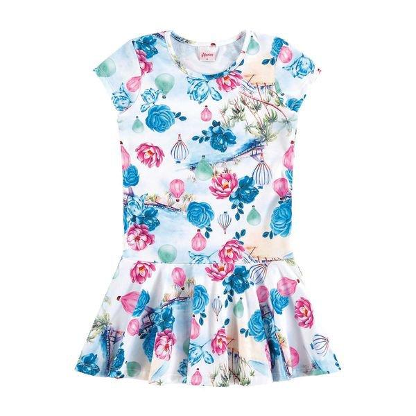 vestido infantil menina branco alenice 46925