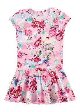 vestido infantil menina rosa alenice 46925