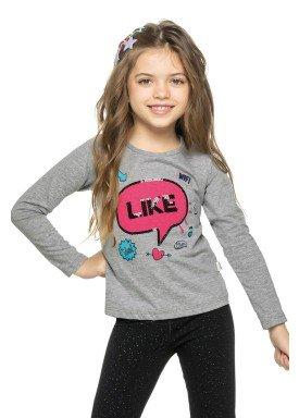 blusa manga longa infantil menina likes mescla elian 251288 2