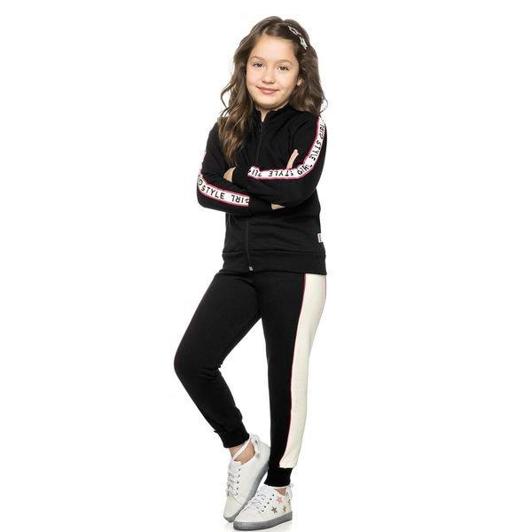 conjunto moletom infantil menina style preto elian 251296 4