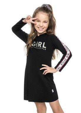 vestido moletom infantil menina girl preto elian 251294 2
