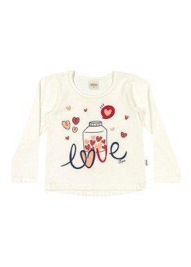 blusa manga longa infantil menina love natural elian 231311 1