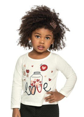 blusa manga longa infantil menina love natural elian 231311 2