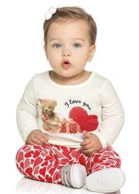 conjunto manga longa bebe menina love natural elian 21962 4