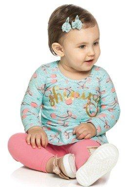 conjunto manga longa bebe menina shining azul elian 21961 4