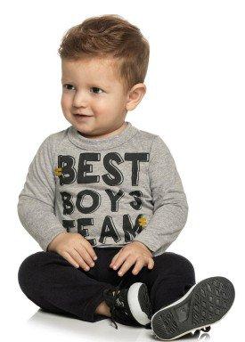 conjunto manga longa bebe menino boys mescla elian 20845 4